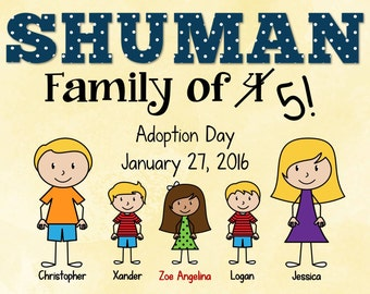 Printable Adoption Announcement Sign