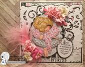 My Besties Fluffy True Beauty Handmade Card