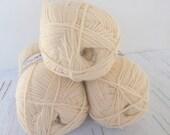 knitting yarn, classic yarn, acrylic yarn,light beige yarn, Each skein: 100 gr