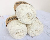 Ivory Bamboo yarn,Each skein: 100 gr, knitting yarn
