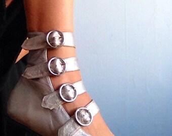 Vintage Silver Buckle Heels size 6.5/7