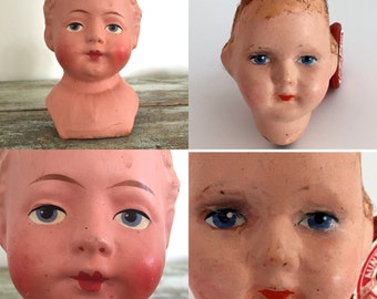 Vintage creepy  doll head