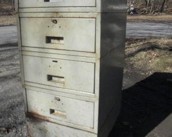 vintage 1960s metal industrial 4 drawer rolling heavy duty MECHANIC WORKSHOP storage CART pick up only