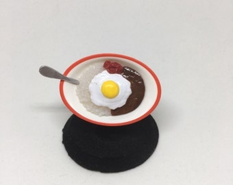 Curry with egg ring