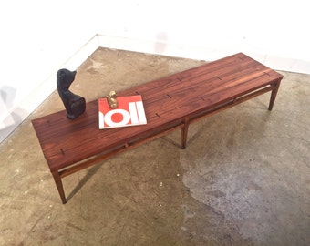 Lane Tuxedo Group Cocktail Table FREE SHIPPING Mid Century Modern Walnut Rosewood Bowtie Coffee Table