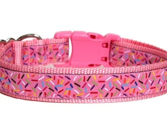 "Birthday Dog Collar 1"" Pink Dog Collar SIZE MEDIUM"