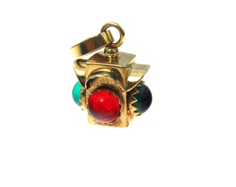 14k Gold Traffic Light 3D Charm