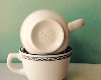 Buffalo China coffee cups, American Lace Buffalo China, vintage coffee cups
