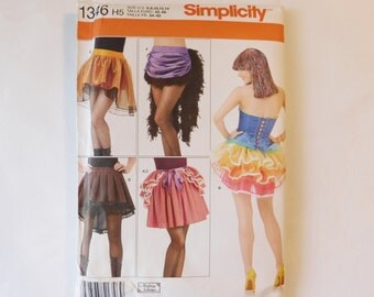 Misses Sewing Pattern 1346 Party Halloween Skirt Costume Five Different Skirt Styles Misses Size 6-14 Andrea Schewe Designs