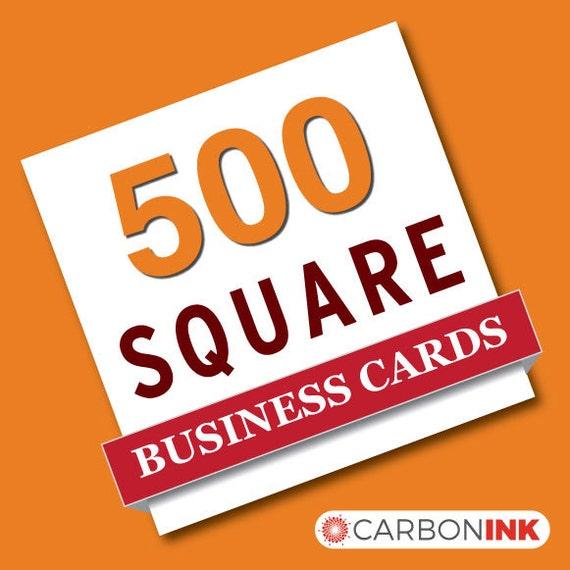 500 Square business card printing straight corners mini