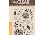 Hero Arts Stamps: You're So Lovely CL949, Clear Stamps, Flower Stamps, Card Making, Paper Crafting