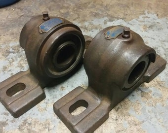 "Vintage Fafnir Pillow Block Bearings 1-7/16"" Set of 2 Industrial Design Decor"