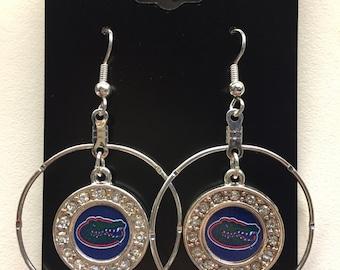 Florida Gators dangle hoop earring new.
