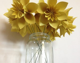 Yellow origami flowers - Charity Donation