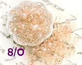 Peach Seed beads, TOHO, size 8/0, Trans-Rainbow Peach, N 1813, japanese rocailles - 10g - S743