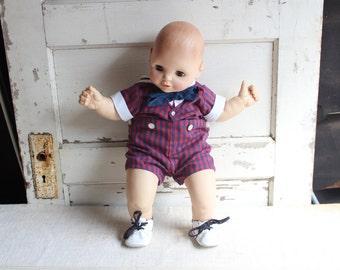 Vintage Uneeda Doll Company Baby Boy Doll Toy
