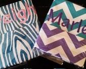 Embroidered Chair Pockets Teacher Classroom Organization Elementary School Seat Sacks Covers Expandable Pocket Chevron Duck