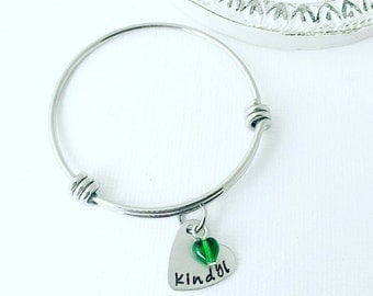 Hand Stamped Child Bracelet - Child Heart Bracelet - Hand Stamped Jewelry - Hand Stamped Bracelet - Little Girls Bracelet - Boutique Child