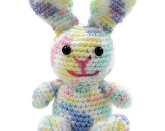 Easter Bunny Amigurumi Doll - Rachel Rainbow Rabbit - Ready to Ship