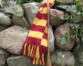 Gryffindor House Scarf Hand-Knit 100% Wool