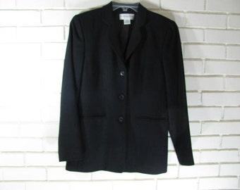 90's Dark Navy wool blazer size 4