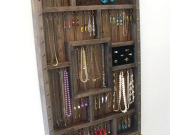 Jewelry Organizer with bracelet bar and ring holder