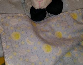 Star Embossed Minky  & Flannel Receiving Blankets
