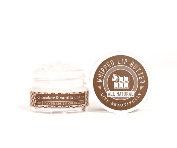 SUMMER SALE - Chocolate & Vanilla - Whipped Lip Butter - Natural Icing for Your Lips