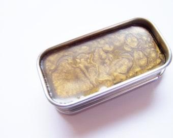 Zero Waste Vegan Lipstick - Pure Gold Mineral Lip Color - Lipstick In A Tin - Vegan Mineral Makeup -  Cruelty Free Cosmetics