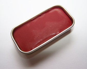 New York Red Mineral Lip Color - Lipstick In A Tin - Vegan Mineral Makeup -  Cruelty Free Cosmetics