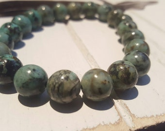 21 - 10MM African Turquoise Mala