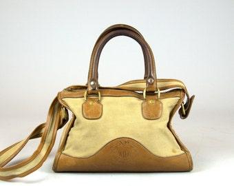 Vintage Ghurka Travel Bag Marley Hodgson Original #16 Keeper Leather Twill Tote Messenger Bag