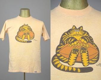 70s Football Cat T Shirt Kliban Cat Crazy Shirts Hawaii 1975
