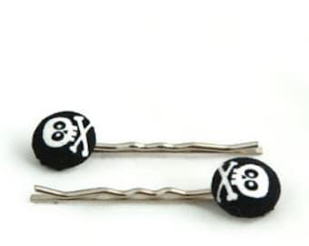 Skull and Crossbones Bobby Pins