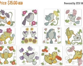 50% OFF SALE Birds n Flowers Machine Embroidery Designs 4x4