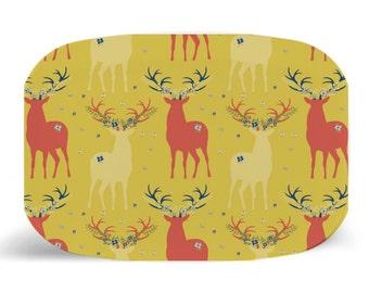 """Melamine Platter, Autumn Deer Melamine Platter, Dinner Plate, 10"""" plate, Shabby Chic, Autumn Deer, Autumn Deer Plate, Fall Serving platter"""