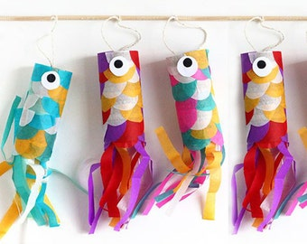 DIY FISH GARLAND Paper Fish Garland for Christmas Decor, Kids' Parties, Mobiles for Children's Bedrooms