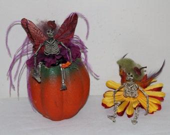 Halloween, decoration, skull, skeleton, goth, creepy, dark, faerie, holiday,doll, pin, costume, fairy, pixie