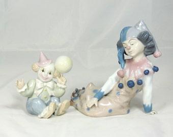 Porcelain Clown Figurines