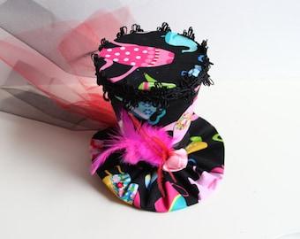 Mini Top Hat in Tipsy Tea Pot- Novelty Hat - Mad Hatter Hat - Tea Party Hat - Alice in Wonderland
