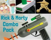 Rick & Morty 3D Printed Cosplay Pieces 3 piece Combo Pack Bundle!