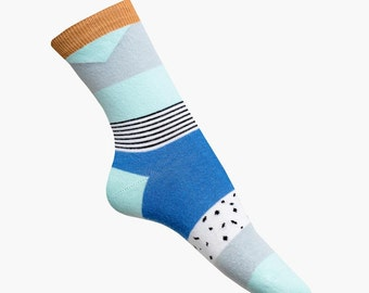 nice socks pattern blue
