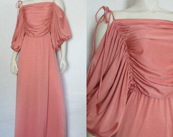 Vintage Joy Stevens Ruched Maxi Dress