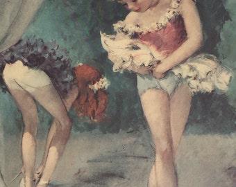 "1950s Cydney Ballerina ""Between the Acts"" Print"