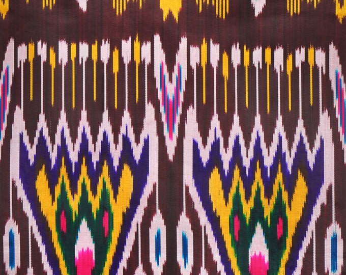 Sale! Ikat Fabric, Ikat Fabric by the yard, Hand Woven Fabric , F-A443