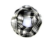 Child's Plaid Scarf, Flannel Scarf, Unisex Scarf, Child's Winter Scarf, Black Plaid Scarf, Baby Bib Scarf, Toddler Gift, Ready to Ship