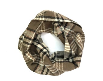 Child's Scarf, Plaid Toddler Scarf, Boy's Flannel Scarf, Kid's Scarf, Children's Clothing, Unisex Child Scarf, Girl's Scarf, Ready To Ship