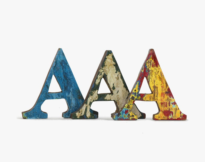 Any 3 Letters, Nautical, Beach Decor, Vintage, Wooden
