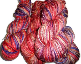 HANDDYED SOCK YARN on Bluefaced Leicester Nylon Base - Multi Colors 100gms