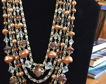 Chocolate and Caramel necklace